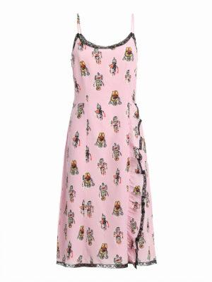 Prada: knee length dresses - Robot print silk dress
