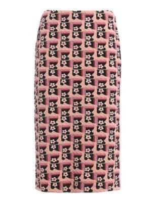 Prada: Knee length skirts & Midi - Cloquet jacquard pencil skirt