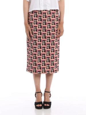 Prada: Knee length skirts & Midi online - Cloquet jacquard pencil skirt