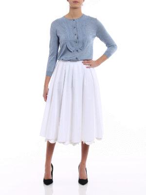 Prada: Knee length skirts & Midi online - Cowgirl white poplin midi skirt