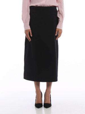 Prada: Knee length skirts & Midi online - Poplin long skirt