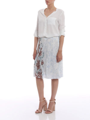 Prada: Knee length skirts & Midi online - Rabbit Liberty print pleated skirt