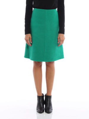 Prada: Knee length skirts & Midi online - Shetland double wool flared skirt