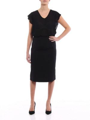 Prada: Knee length skirts & Midi online - Stretch poplin A-line black skirt