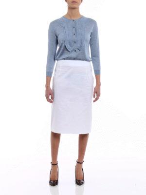 Prada: Knee length skirts & Midi online - Stretch poplin A-line white skirt