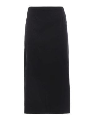 Prada: Knee length skirts & Midi - Poplin long skirt