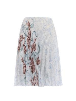 Prada: Knee length skirts & Midi - Rabbit Liberty print pleated skirt
