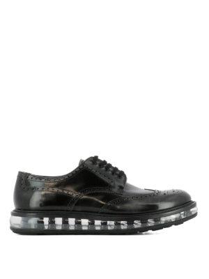 Prada: lace-ups shoes - Brogue Derby platform shoes
