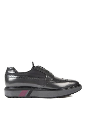 Prada: lace-ups shoes - Brushed leather and nylon Derby