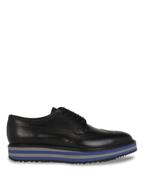 Prada: lace-ups shoes - Brushed leather Derby brogue