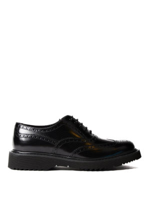 Prada: lace-ups shoes - Brushed leather Oxford brogues