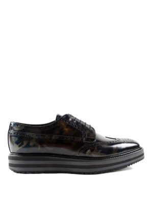 Prada: lace-ups shoes - Camu leather Derby brogue