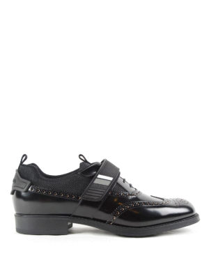 Prada: lace-ups shoes - Derby shoes with velcro strap