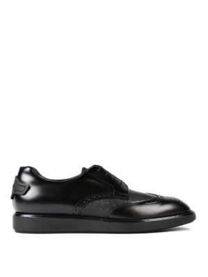 Prada: lace-ups shoes - Leather and textured leather Derby