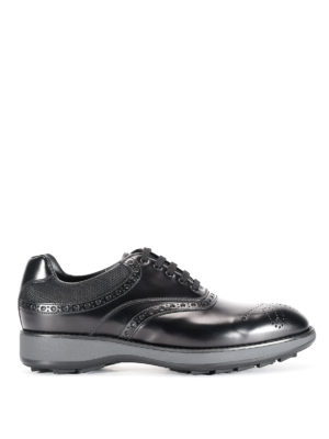 Prada: lace-ups shoes - Leather Oxford brogue shoes