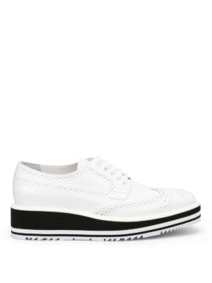 Prada: lace-ups shoes - Maxi sole brogue derby shoes
