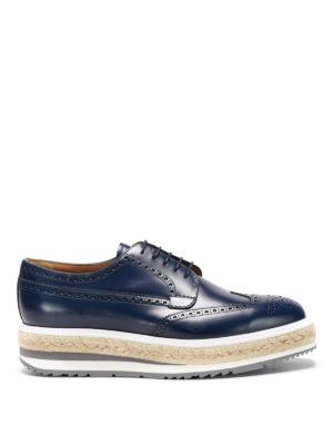 Prada: lace-ups shoes - Maxi sole leather brogue lace-ups