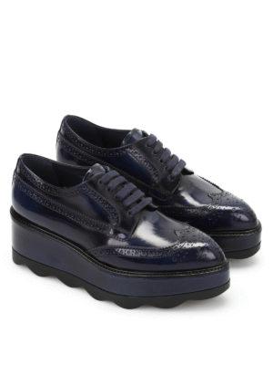 Prada: lace-ups shoes online - Brogue derby shoes