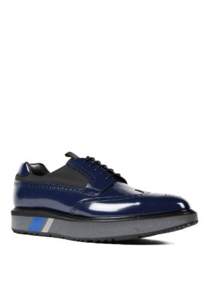 Prada: lace-ups shoes online - Brushed leather and nylon Derby