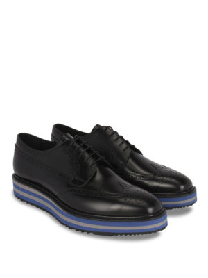Prada: lace-ups shoes online - Brushed leather Derby brogue
