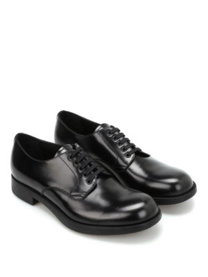 Prada: lace-ups shoes online - Brushed leather Derby shoes