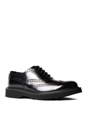 Prada: lace-ups shoes online - Brushed leather Oxford brogues