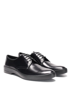 Prada: lace-ups shoes online - Chunky sole leather lace-ups