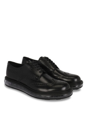 Prada: lace-ups shoes online - Clear sole Derby brogue