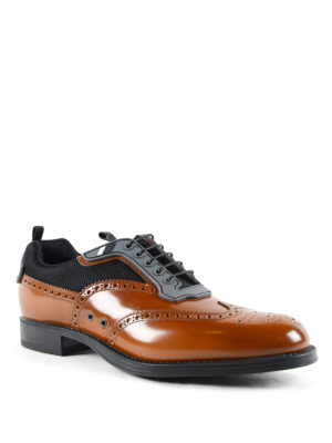 Prada: lace-ups shoes online - Derby shoes with rubber inserts
