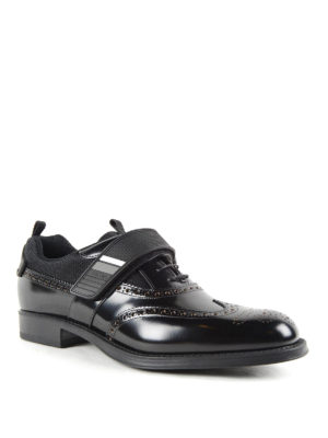 Prada: lace-ups shoes online - Derby shoes with velcro strap