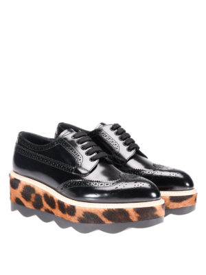 Prada: lace-ups shoes online - Haircalf sole leather Derby shoes
