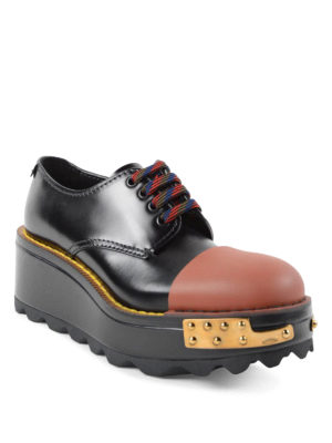 Prada: lace-ups shoes online - Leather and rubber lace-ups