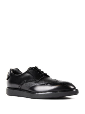 Prada: lace-ups shoes online - Leather and textured leather Derby