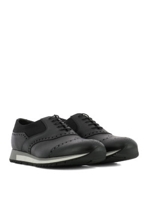Prada: lace-ups shoes online - Leather lace-up brogues