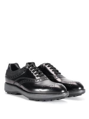 Prada: lace-ups shoes online - Leather Oxford brogue shoes