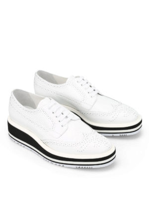 Prada: lace-ups shoes online - Maxi sole brogue derby shoes