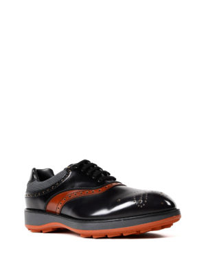 Prada: lace-ups shoes online - Orange detailed sporty brogues