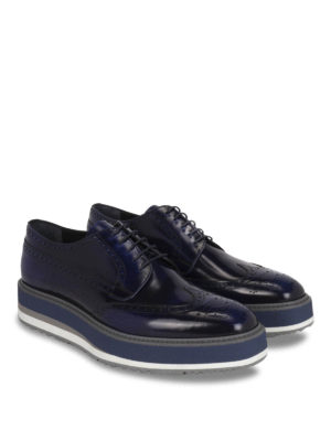 Prada: lace-ups shoes online - Polished leather Derby brogue