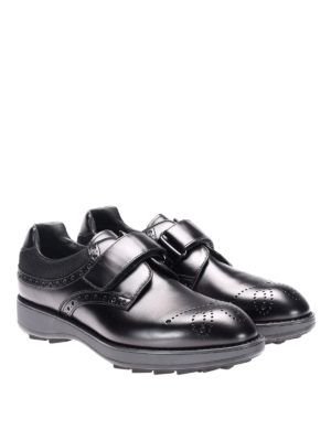 Prada: lace-ups shoes online - Rois calfskin and fabric lace-ups