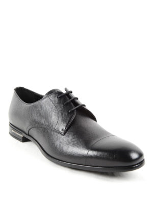 Prada: lace-ups shoes online - Saffiano leather lace-ups
