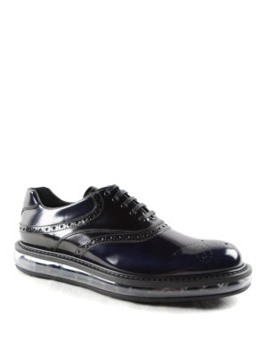 Prada: lace-ups shoes online - Shaded brushed leather Oxford