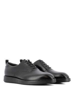 Prada: lace-ups shoes online - Smooth leather black Oxford shoes