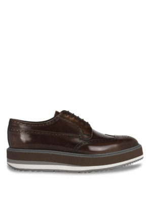Prada: lace-ups shoes - Polished leather Derby brogue