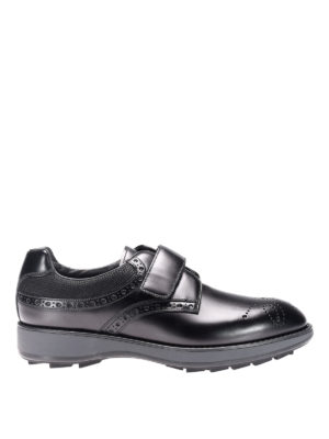 Prada: lace-ups shoes - Rois calfskin and fabric lace-ups