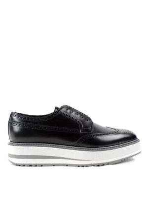 Prada: lace-ups shoes - Wedge leather Derby brogue
