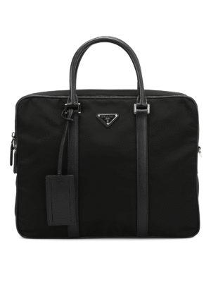 Prada: laptop bags & briefcases - Double zip nylon briefcase