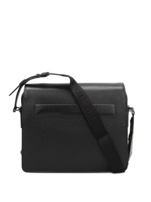 Prada: laptop bags & briefcases - Flap-over leather briefcase