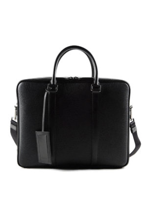 Prada: laptop bags & briefcases - Grained leather briefcase