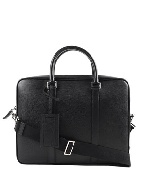 Prada: laptop bags & briefcases - Hammered leather satchel