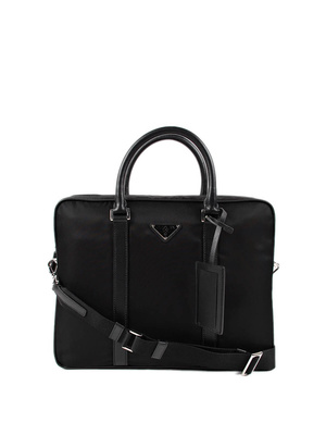 Prada: laptop bags & briefcases - Nylon and leather laptop bag